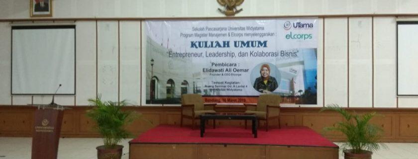 "Kuliah Umum ""Entrepreneur, Leadership, & Kolaborasi Bisnis"""