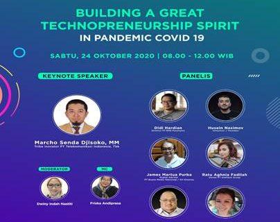 Pelaksanaan Kuliah Umum Webinar Prodi MM Building a Great Technopreneurship Spirit in Pandemic Covid-19