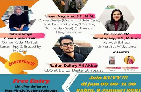 Webinar Kolaborasi, Prodi MM dan Mahsasiswa bertema Smart Technopreneurship In Millenial Generation On Trends Revolusi Industri 4.0